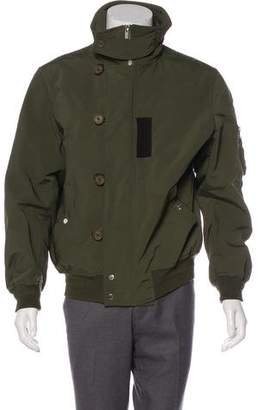 Christian Dior Leather-Trimmed Utility Bomber Jacket
