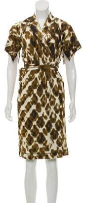 Just Cavalli Patterned Wrap Dress