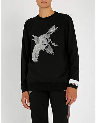 Lanvin Velvet-trimmed cotton-jersey sweatshirt