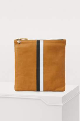 Clare Vivier Leather striped pouch