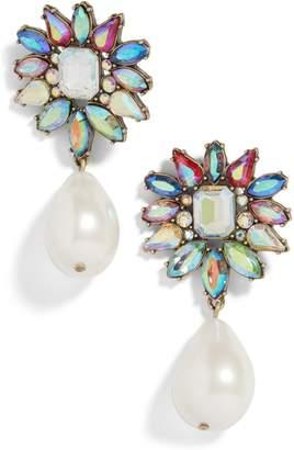 BaubleBar Lovisa Flower Imitation Pearl Drop Earrings