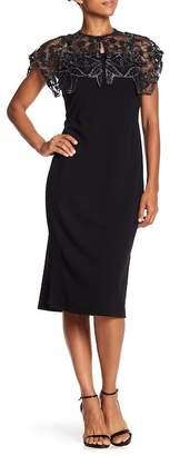 Marina Embellished Cape & Sleeveless Dress Set