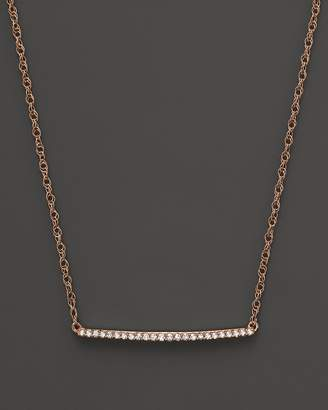 Bloomingdale's Diamond Mini Bar Necklace in 14K Rose Gold, .10 ct. .t.w. - 100% Exclusive