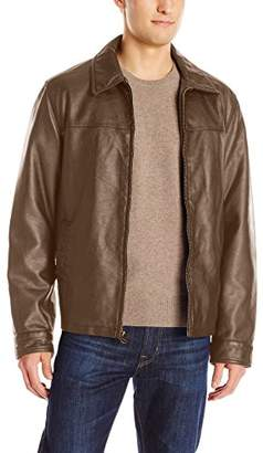 Dockers James Classic Faux Leather Laydown Collar Open Bottom Jacket