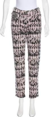 Isabel Marant Printed Mid-Rise Jeans Pink Printed Mid-Rise Jeans