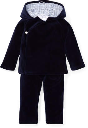 Ralph Lauren Hooded Top w/ Matching Pants, Size 6-24 Months