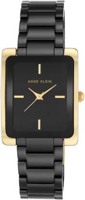 Anne Klein Rectangle Ceramic Bracelet Watch, 28mm x 35mm