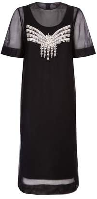 Burberry Embellished Mesh Dress