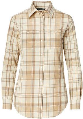 Ralph Lauren Plaid Cotton Shirt $89.50 thestylecure.com