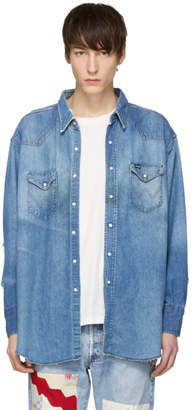 Wrangler B Sides Indigo Denim Vintage Shirt