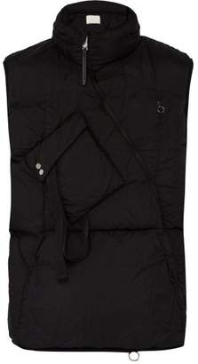 1017 Alyx 9sm - Asymmetric Quilted Down Gilet - Mens - Black