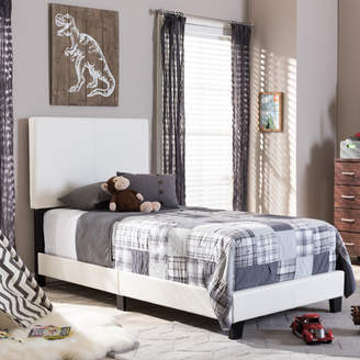Baxton Studio Wholesale Interiors Twin Upholstered Panel Bed