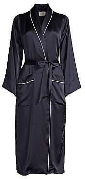 MAISON DU SOIR Women's Olivia Piped Silk Robe