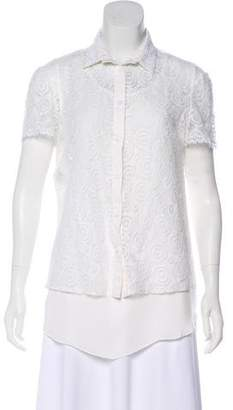 Philosophy di Alberta Ferretti Lace Button-Up Top