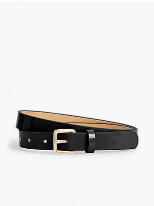 Talbots Plus Size Patent Leather Square-Buckle Belt