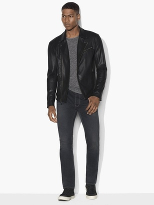 Coated Moto Jacket With Asymmetrical Zip Closure $498 thestylecure.com