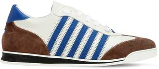 DSQUARED2 Striped Leather & Suede Sneakers