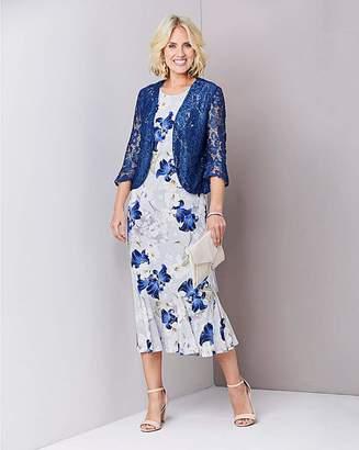 fcf9ce0d6dac1 Julipa Floral Dress with Lace Shrug. 45