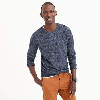 J.Crew Cotton-linen blend heather crewneck sweater