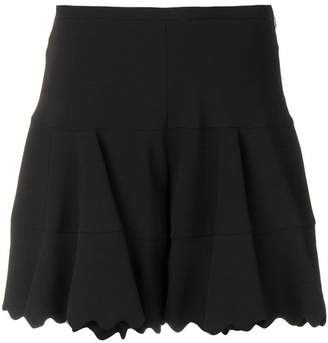 Chloé scalloped hem shorts