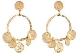 Yochi Balboa Coin Hoop Dangle Earrings