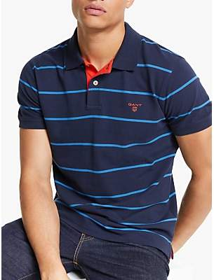 d92111682a5 Gant Contrast Stripe Pique Rugger Polo Shirt