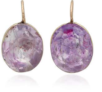 VELA 14K Gold Amethyst-Glass Earrings