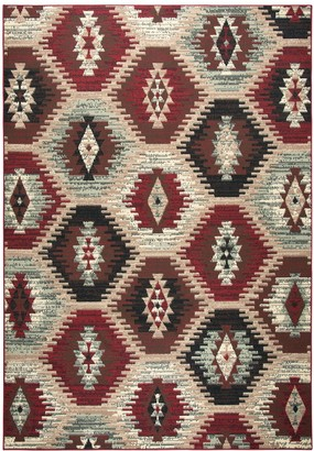 Xcite Rizzy Home Transitional Southwest Tribal Trellis Rug