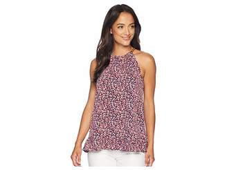 MICHAEL Michael Kors Tiny Wildflower Halter Top Women's Clothing
