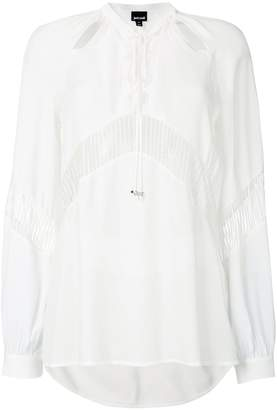 Just Cavalli lace-up detail shirt