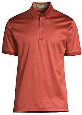 Corneliani Men's Knit Jersey Polo Shirt