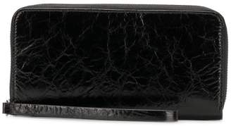 MM6 MAISON MARGIELA wrinkled zip around wallet