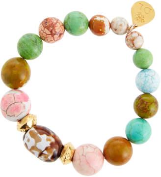 Devon Leigh Multicolor Agate Stretch Bracelet