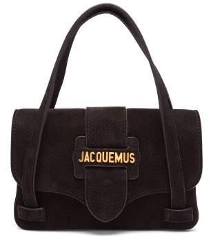 Jacquemus - Le Minho Suede Mini Bag - Womens - Black