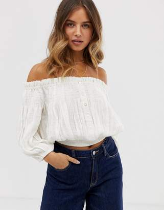 50951ed0424559 Free People Off The Shoulder Top - ShopStyle UK