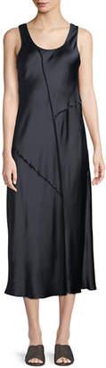 Vince Raw-Edge Silk Tank Dress