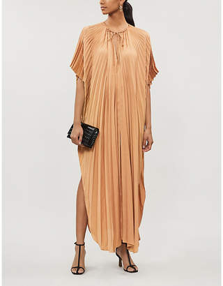 Stella McCartney Pleated satin gown