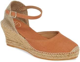 Toni Pons 'Caldes' Linen Wedge Sandal