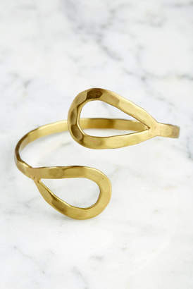 World Finds Double Teardrop Cuff In Gold