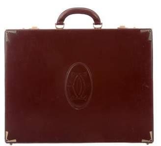 Cartier Leather Must De Briefcase