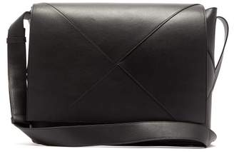 af50a195a78 Bottega Veneta Four Piece Leather Messenger Bag - Mens - Black