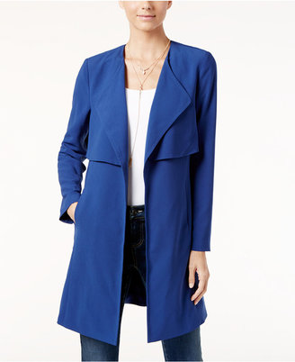 INC International Concepts Draped Trench Coat, Only at Macy's $119.50 thestylecure.com