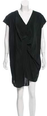 AllSaints Asymmetrical Silk Dress