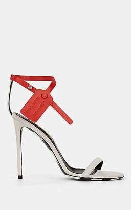 Off-White Off - White c/o Virgil Abloh Women's Zip-Tie-Strap Suede Sandals - White