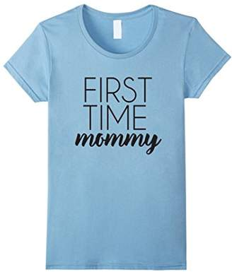 43ad7f98 at Amazon.com · Womens First Time Mommy Funny Pregnancy Shirt