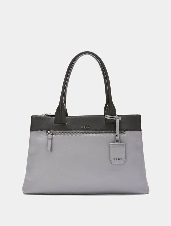 DKNY HEAVY NAPPA LEATHER EAST\u002FWEST TOTE