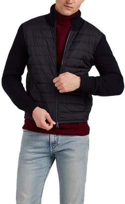 Moncler Men's Down-Quilted Wool-Blend & Tech-Fabric Jacket