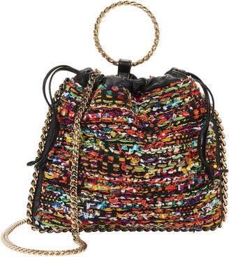 Balmain Multicolor Tweed B-Link Bracelet Backpack