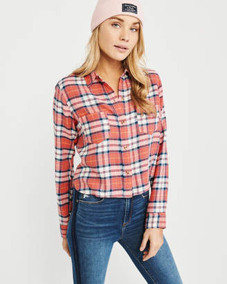 Abercrombie & Fitch Cropped Flannel Shirt