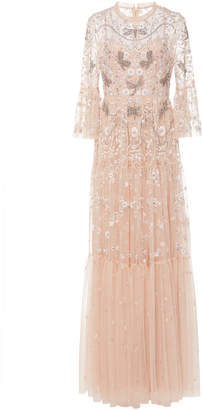 Needle & Thread Dragonfly Garden Embellished Tulle Maxi Dress